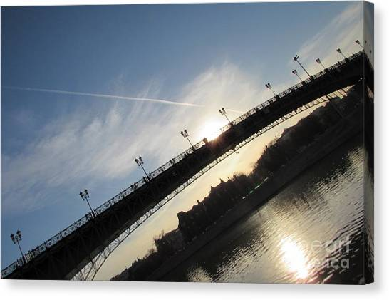 Moscow Skyline Canvas Print - Sun Layers by Anna Yurasovsky