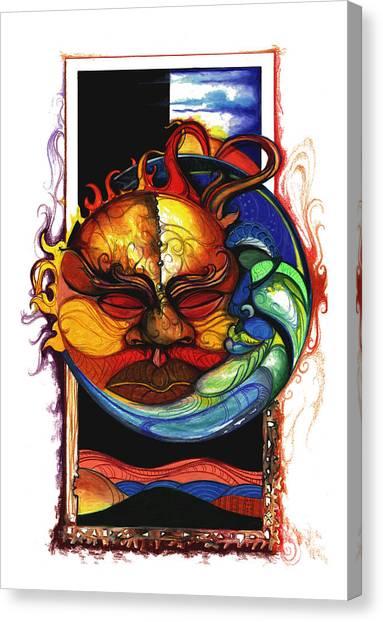 Sun Moon Canvas Print
