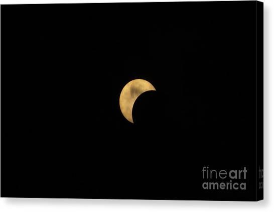 Sun Moon Clouds Canvas Print
