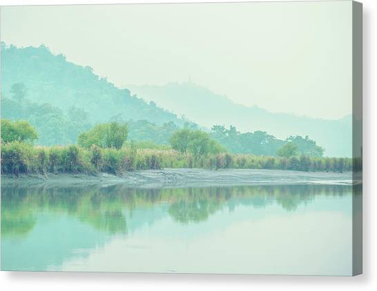 Sun Moon Lake Pastels Canvas Print