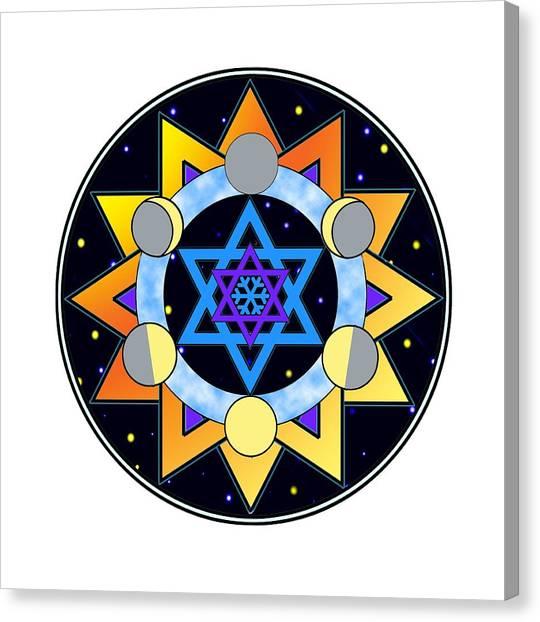 Sun, Moon, Stars Canvas Print
