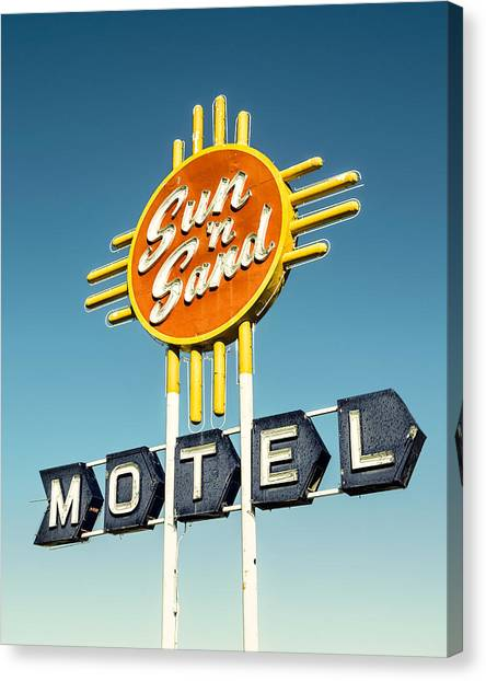 Historic Route 66 Canvas Print - Sun 'n Sand by Humboldt Street