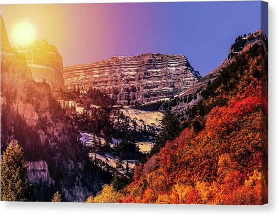 Sun On The Mountain Canvas Print
