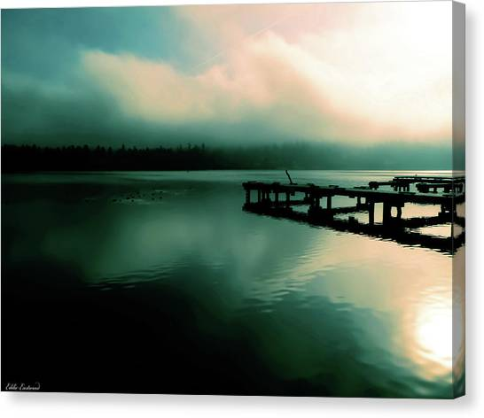 Sun Peeking Through The Clouds  In Kenmore Washington Canvas Print