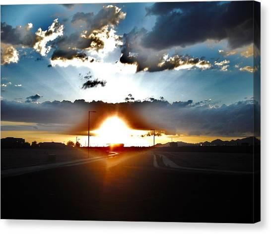 Sun-plosion... Canvas Print by Paul Whitney
