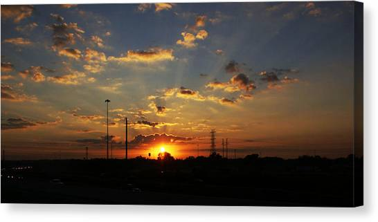 Sun Rays Canvas Print by Chauncy Holmes