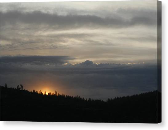 Sun Rises On Ridge Canvas Print