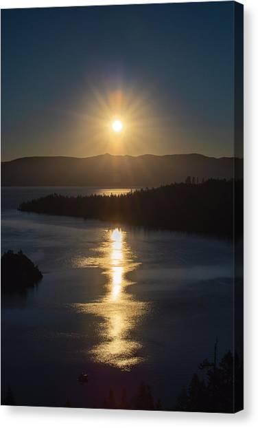 Sun Rising Over Lake Tahoe Canvas Print