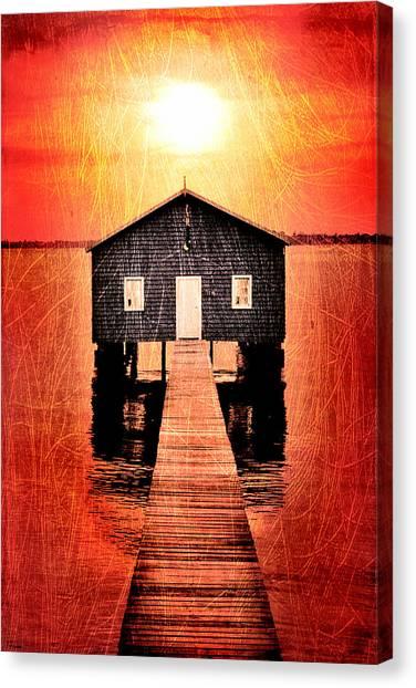 Bay Canvas Print - Sun Scars by Az Jackson