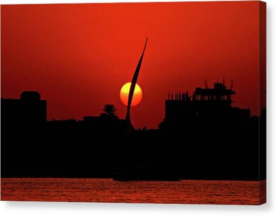 Sun Set Canvas Print by Chaza Abou El Khair