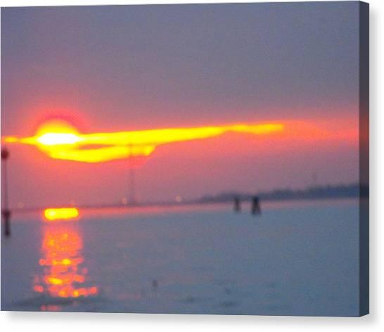 Sun Sets Over Venice IIi Canvas Print by Viviana Puello Villa