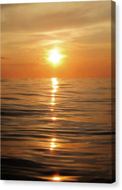 Reflections Canvas Print - Sun Setting Over Calm Waters by Nicklas Gustafsson