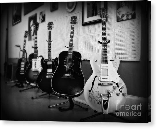 Johnny Cash Canvas Print - Sun Studio Classics 2 by Perry Webster
