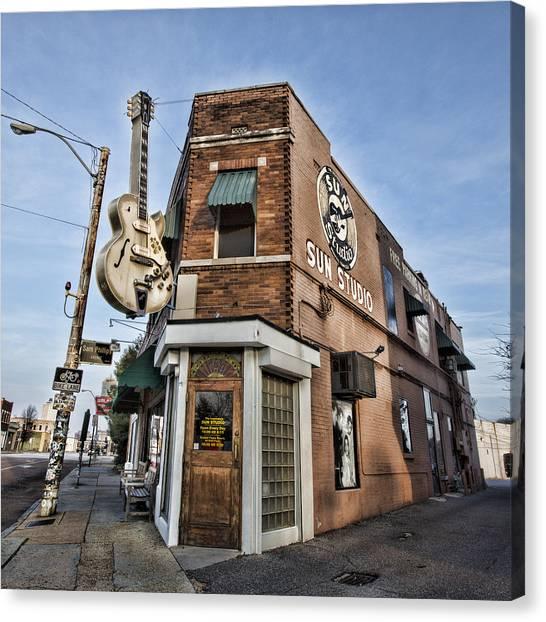 Elvis Canvas Print - Sun Studio - Memphis #1 by Stephen Stookey
