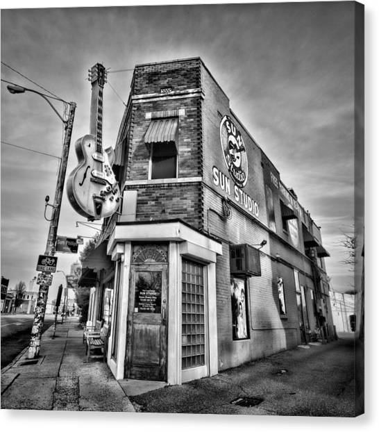 Johnny Cash Canvas Print - Sun Studio - Memphis #2 by Stephen Stookey