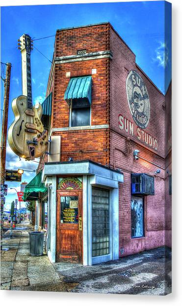 Howling Wolves Canvas Print - Sun Studio Memphis Tennessee Art by Reid Callaway