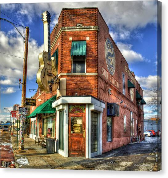 Howling Wolves Canvas Print - Sun Studio Rock N Roll Birthing Place Memphis Tennessee Art by Reid Callaway