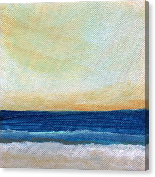 Pacific Coast Canvas Print - Sun Swept Coast- Abstract Seascape by Linda Woods