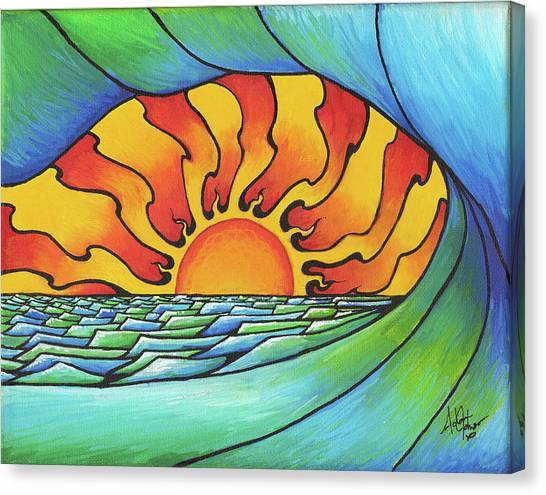 Sun Through The Curl Canvas Print