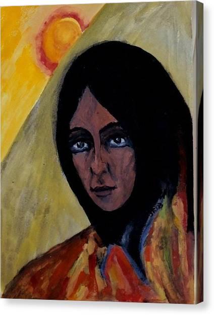 Sun Woman Canvas Print