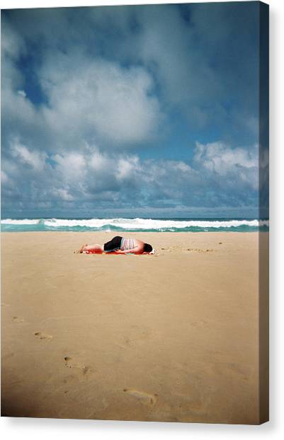 Canvas Print featuring the photograph Sunbather by Nik West