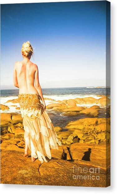 Sexy Canvas Print - Sunbathing By The Sea by Jorgo Photography - Wall Art Gallery