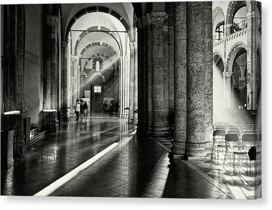 Sunbeam Inside The Church Canvas Print