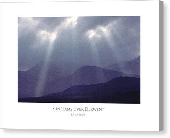 Sunbeams Over Derwent Canvas Print