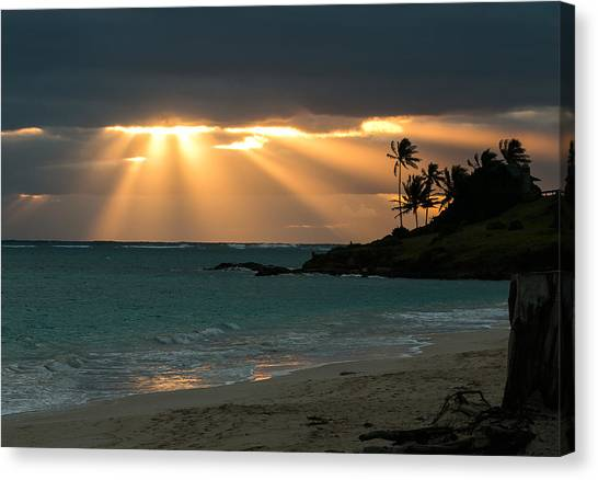 Sunburst At Kailua Canvas Print
