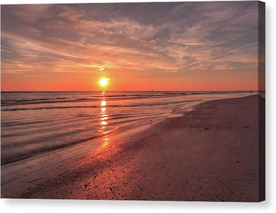 Sunburst At Sunset Canvas Print