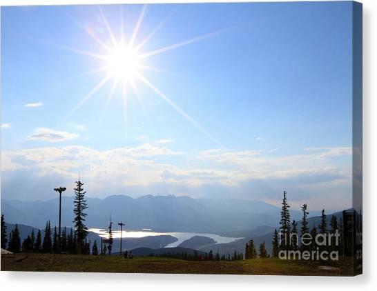 Sunburst Over Lake Dillon Canvas Print