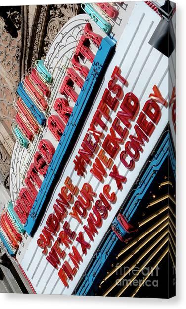 Sundance Next Fest Theatre Sign 2 Canvas Print