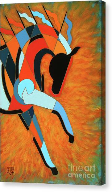 Sundancer Of The Fire I Canvas Print