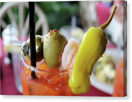 Bloody Mary Canvas Print - Sunday Brunch by Sean Hughes