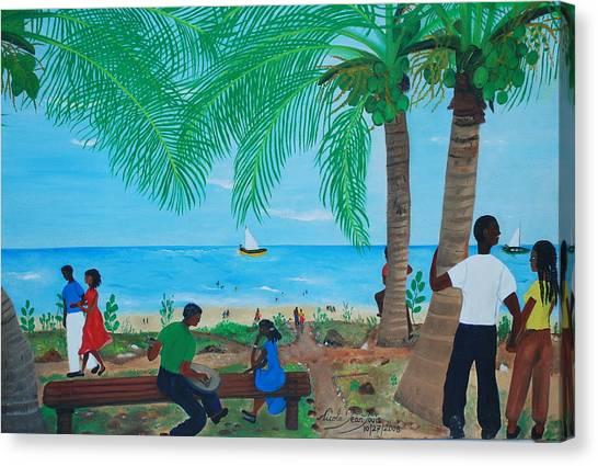 Sunday By The Beach Canvas Print