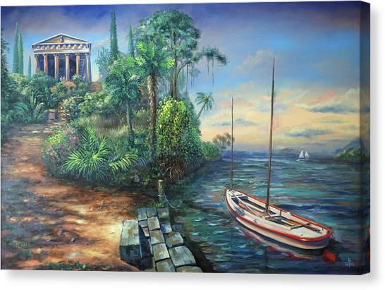 Sunday Morning Greco Floridian Twist Canvas Print
