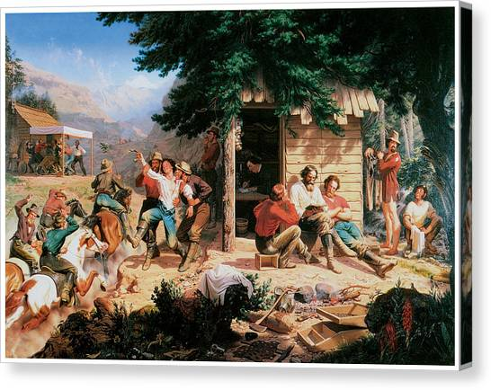 Early Christian Art Canvas Print - Sunday Morning In The Mines by Charles Christian Nahl