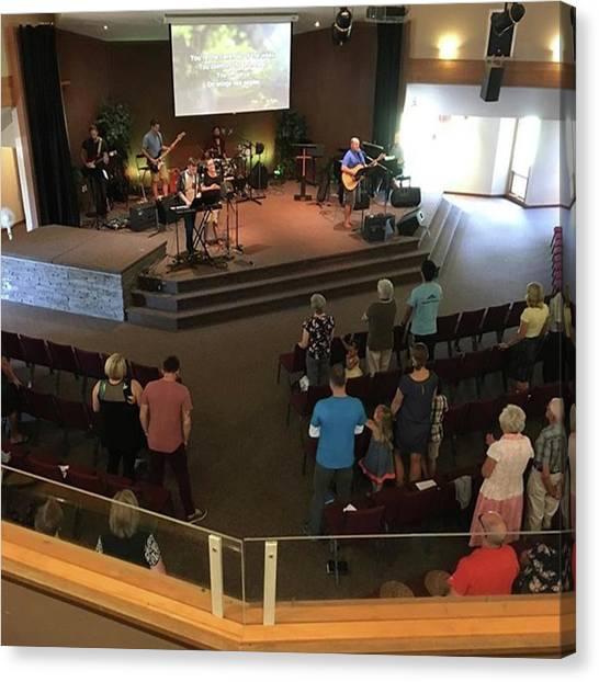 Mercy Canvas Print - Sunday Morning Worship! #praisehim by Mike Bennett