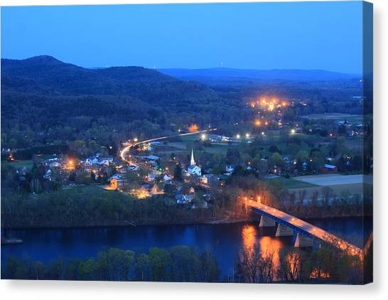 Sunderland Canvas Print - Sunderlight At Twilight From Mount Sugarloaf by John Burk