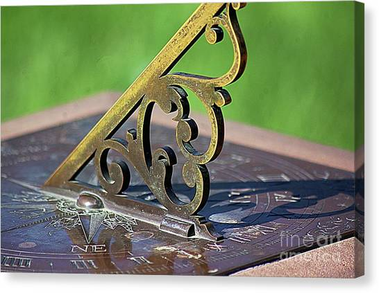 Sundial In The Garden Canvas Print