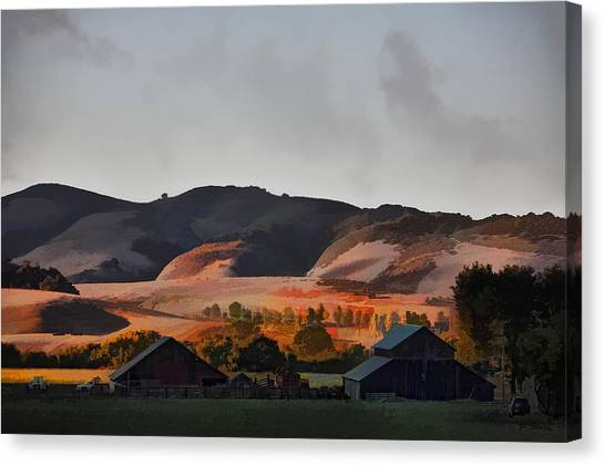 Sundown At The Ranch Canvas Print by Patricia Stalter