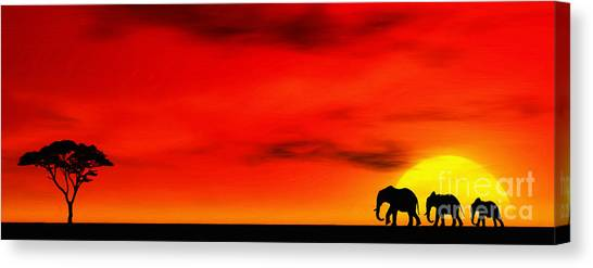 Summer Canvas Print - Sundown by John Edwards