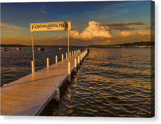 Sundown - Lake Geneva Wisconsin Canvas Print