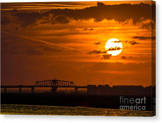 Sundown On The Charleston Coast  Canvas Print