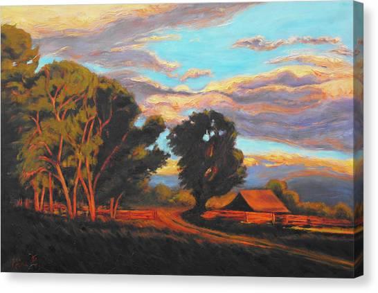 Sundown On The Ranch Canvas Print