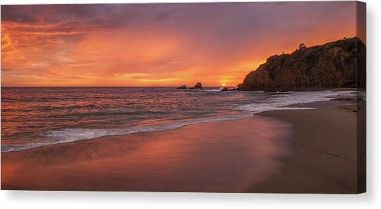 Sundown Over Crescent Beach Canvas Print
