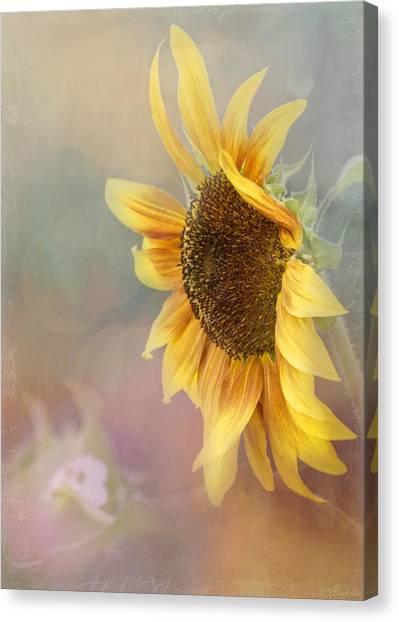 Sunflower Art - Be The Sunflower Canvas Print