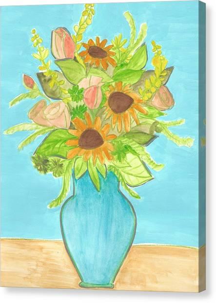 Sunflower Bouquet  Canvas Print