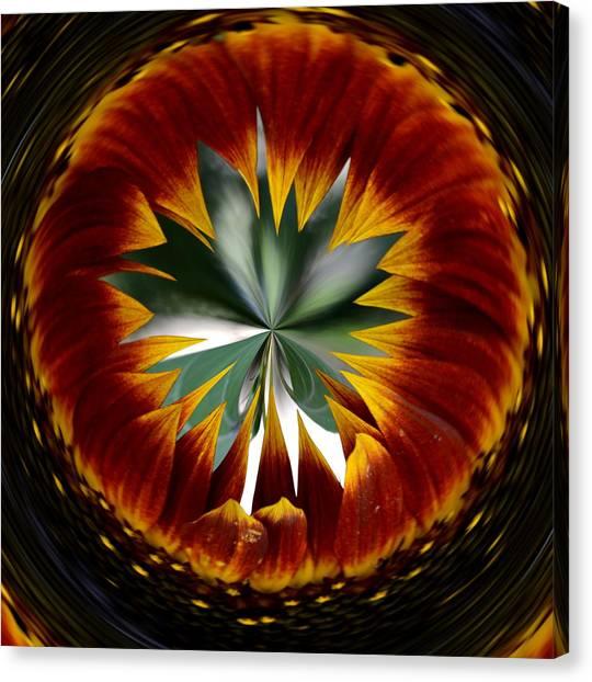 Sunflower Circle Canvas Print