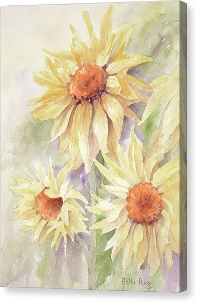 Sunflower Dreams Canvas Print by Bobbi Price